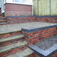 Decorative brickwork and patio by Country Lane Landscapes