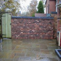 An attractive new wall built using reclaimed bricks.  All bricklaying by Country Lane Landscapes