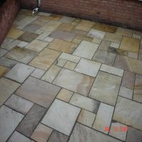 A beautiful patio laid by Country Lane Landscapes Ltd