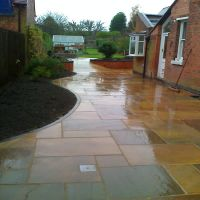 A beautiful pathway laid by Country Lane Landscapes Ltd