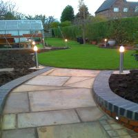 Attractive path and garden lighting work by Country Lane Landscapes